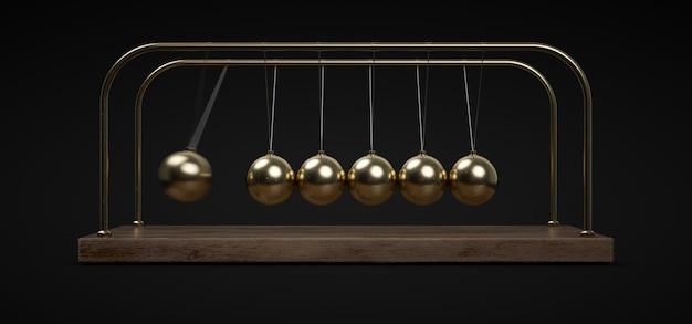 Pendule boules dorées