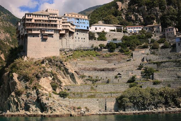 Péninsule d'athos, grèce.vue depuis un ferry.