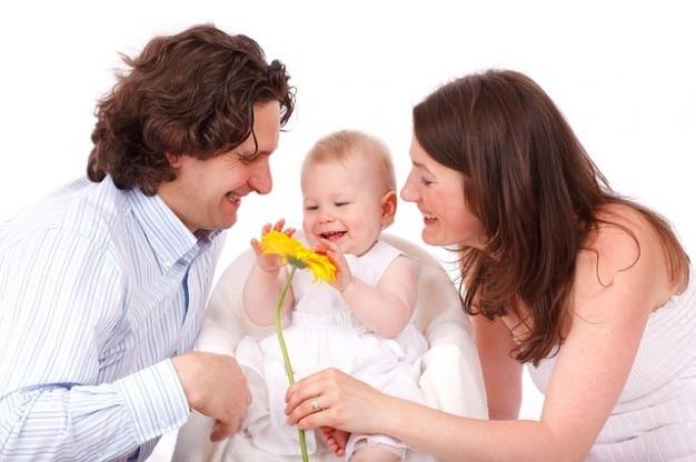 Père du bébé caucasien enfant fille fillette famille