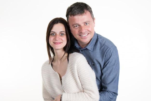 Père et fille ensemble. symbole de la famille.