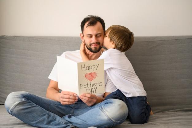Père, tenue, carte voeux
