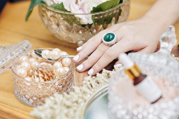 Les perles comme ingrédient de soin de beauté