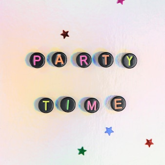 Perles de lettre mot party time