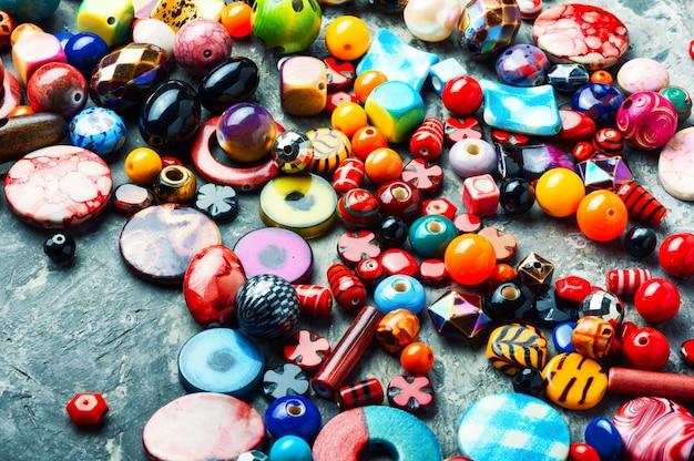 Perles ou perles colorées