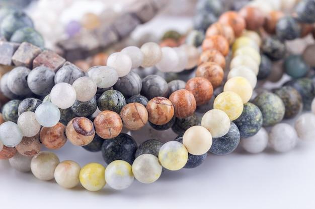 Perles de pierre gemme