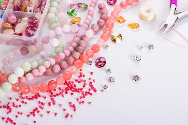 Perles de quartz rose cerise rose
