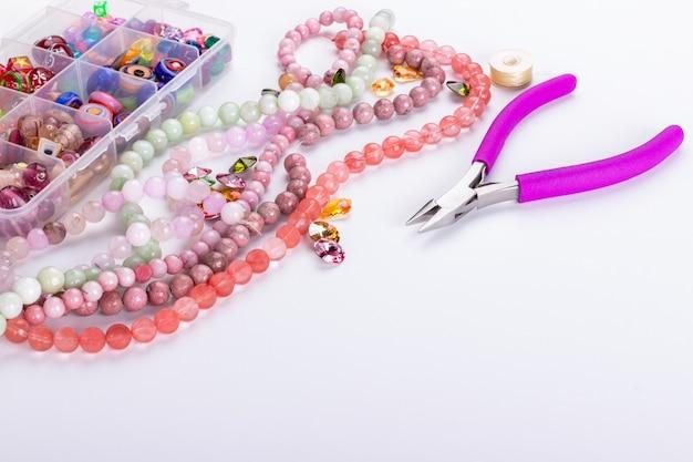 Perles de quartz rose