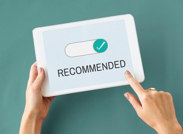 Permis d'approbation des allocations recommandées reconnues
