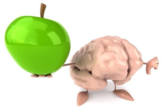 Personnage 3d de cerveau amusant