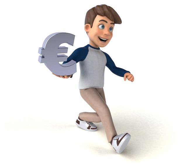 Personnage de dessin animé 3d adolescent drôle