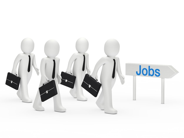 Personnage à la recherche d'un emploi
