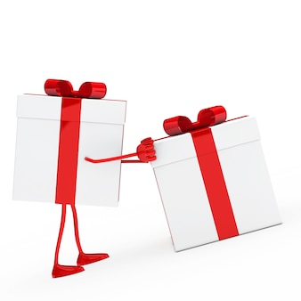 Personnage tenant un cadeau