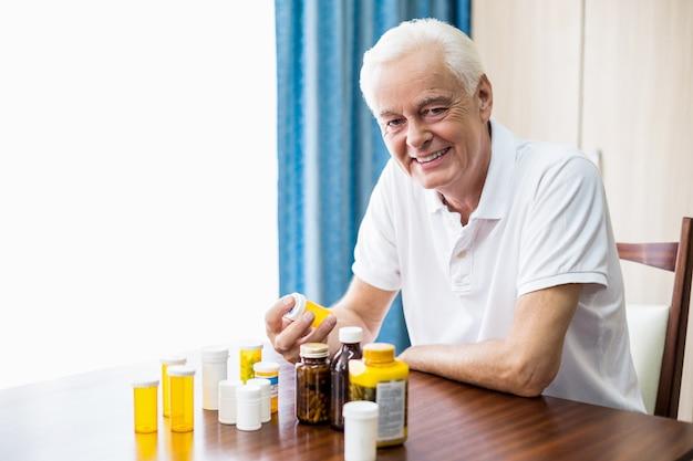 Personne âgée, séance, devant, médecine