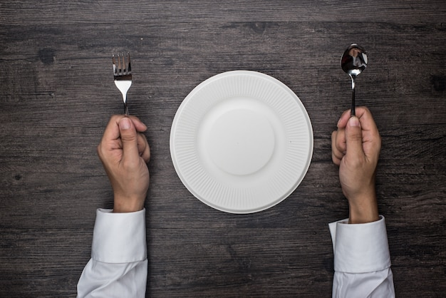 Personne prêt à manger