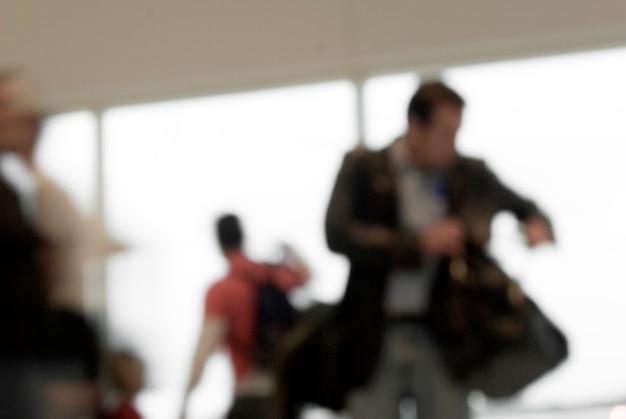 Personnes à l'aéroport