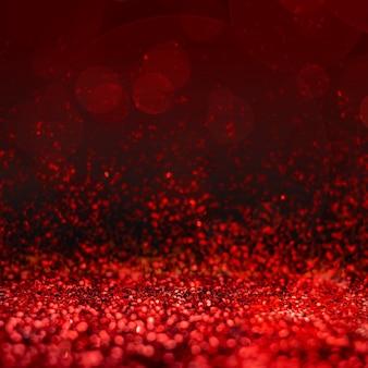 Perspective abstraite de paillettes rouges à fond blanc