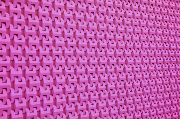 Perspective décroissante du mur de style moderne rose vif
