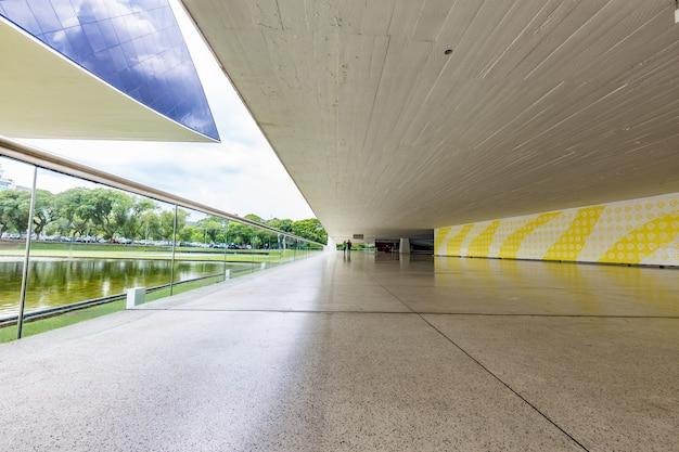 Perspective intérieure du musée oscar niemeyer