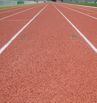 Perspective de piste de course, verticale