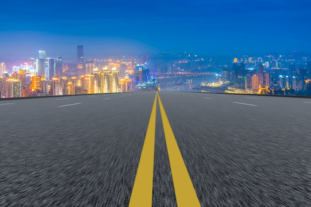 Perspective de transport enroulement ligne pointillée vide
