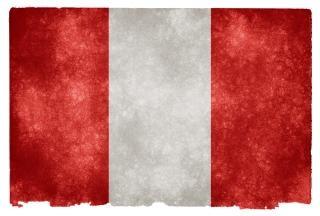 Peru flag grunge