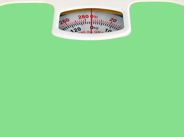 Pèse-personne vert