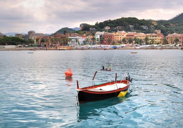 Petit bateau près de la côte