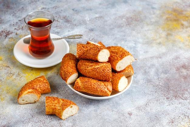 Petit-déjeuner turc traditionnel.
