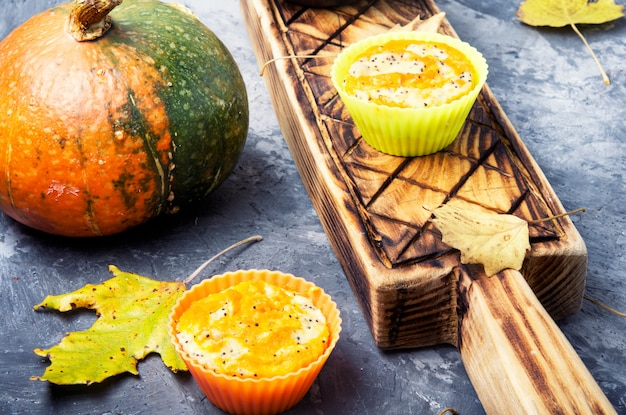 Petit gâteau d'automne à la citrouille