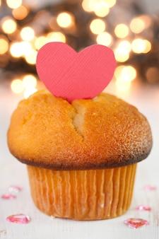 Petit gâteau avec coeur