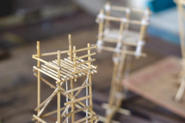 Une petite construction en bois