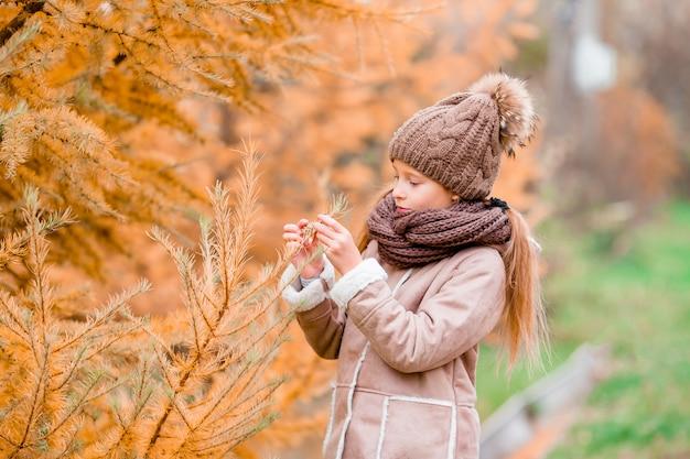Petite fille en automne au jour de l'automne