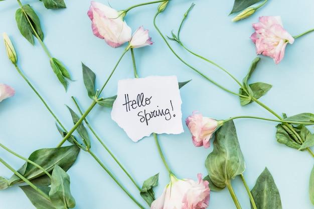 Petite note sur le bouquet de fleurs