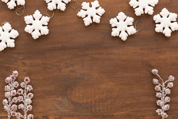Petits flocons de neige aux baies