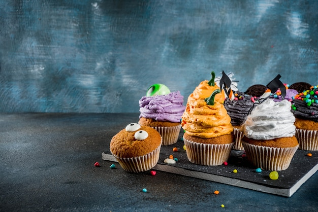 Petits gâteaux amusants pour enfants pour halloween