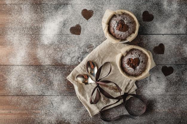 Petits gâteaux au chocolat sans gluten sains