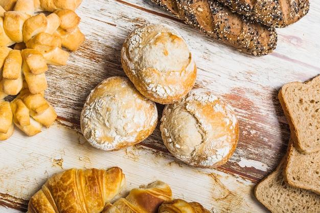 Petits pains doux près de la pâtisserie