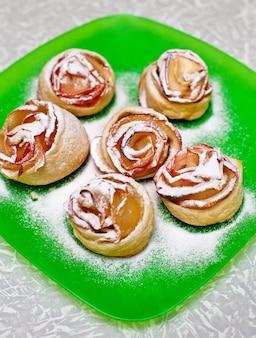 Petits pains en forme de rose