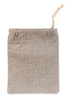 Petits sacs en coton écologique, en lin, maquette