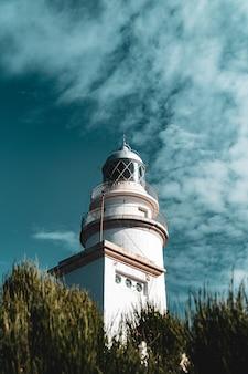 Un phare à majorque, photographié avec une technique de profondeur de champ.