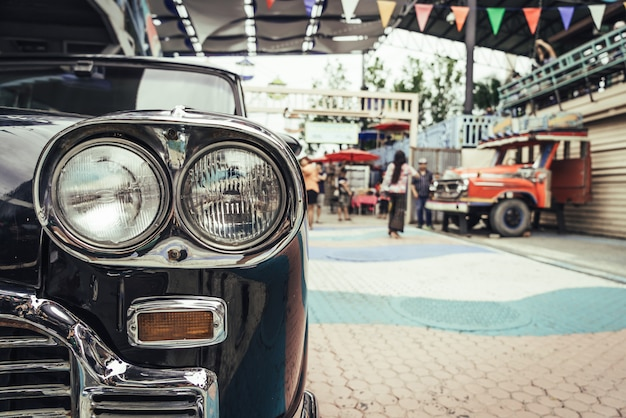 Phare de vieille voiture
