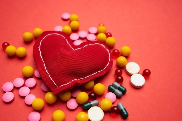 Pharmacologie pharmaceutique de soins cardiaques de médicaments multicolores