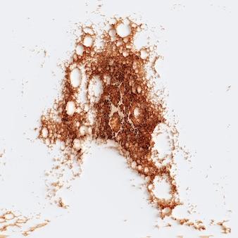 Photo abstraite de cuivre sur une illustration 3d de fond blanc