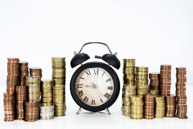 Photo abstraite de temps et d'argent.