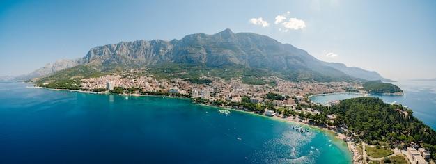 Photo aérienne drone makarska croatie