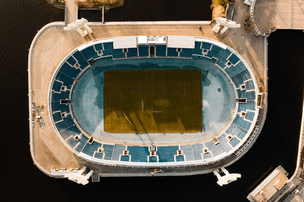Photo aérienne du stade de football