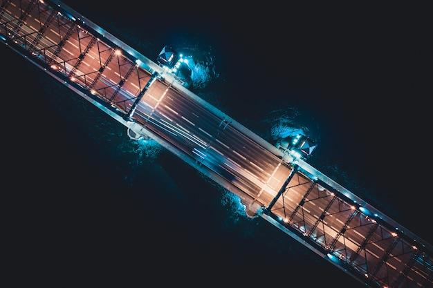 Photo aérienne sur le pont