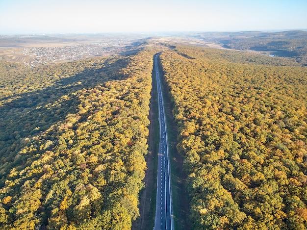 Photo aérienne de la route de chisinau