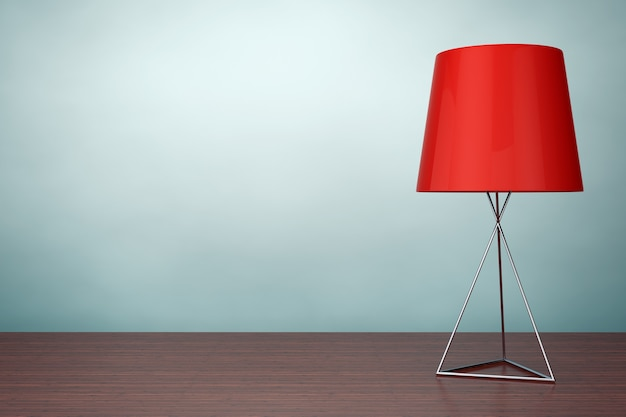 Photo à l'ancienne. lampe de table de mode moderne sur la table. rendu 3d