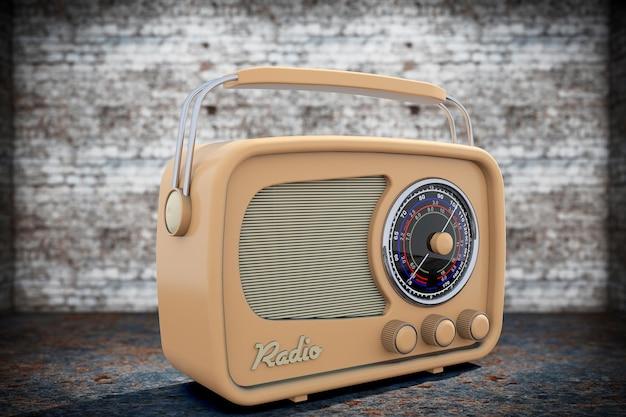 Photo à l'ancienne. radio vintage gros plan